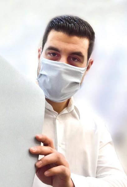 Antibakterielle Mund-Nasen-Maske mit Bindebänder