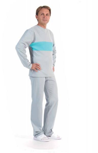 BacteriaEx antibakterieller Kurzarm Herren-Schlafanzug